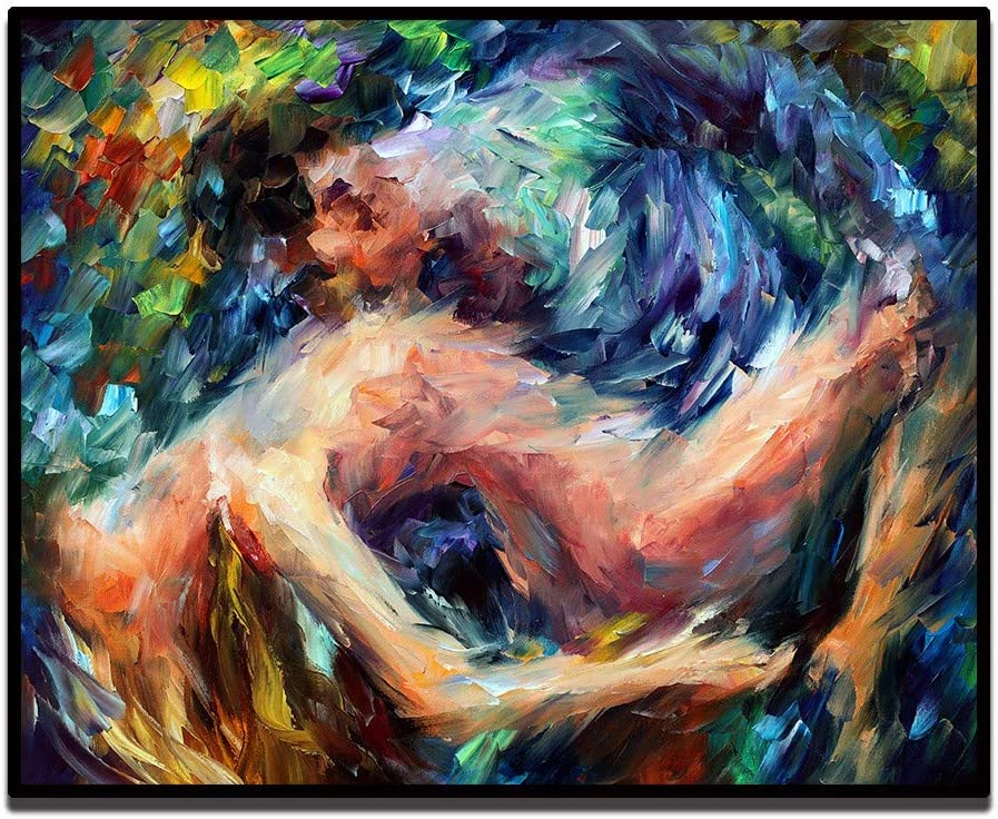 Amazon Com Sumianyh Oil Paintings On Canvas Hand Painted Abstract Oil Painting Wall Art Nude Figure The Body Art Thick Texture Sexy Woman And Man For Bedroom Living Room Decoration Painting Without Frame Furniture