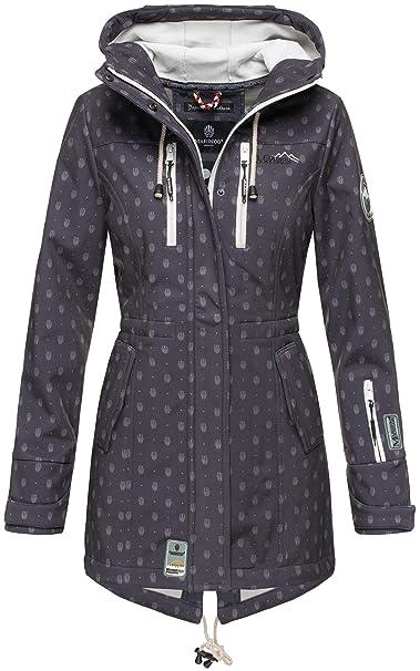 purchase cheap 5dd23 69f05 Marikoo Damen Jacke Mantel Outdoor wasserabweisend Softshell B614