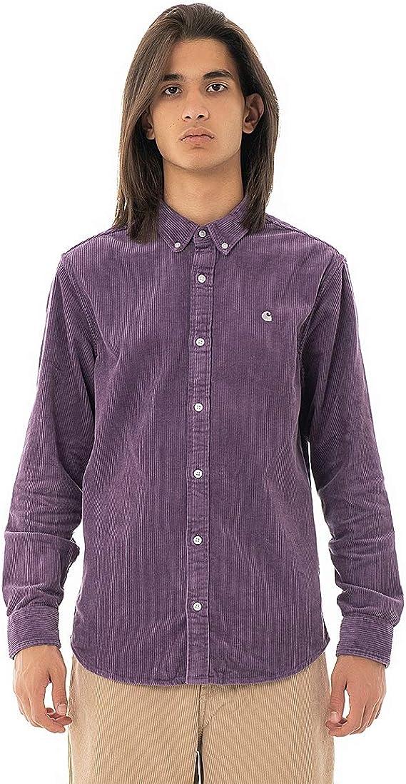 Carhartt Madison Cord Shirt I025247 Dusty Mauve - Camisa de Terciopelo para Hombre Mauve XL: Amazon.es: Ropa y accesorios