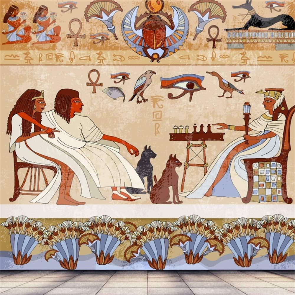 OFILA アンティーク エジプト パピルスとヒエログリフ バックドロップ 6.5x6.5フィート アフリカ古代文明 古典的建築 背景 カイロ エジプシャンファラオ トム 宗教 ソウルエテミティ トーテム 写真 ビデオ プロップ   B07GBWYZPY