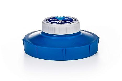 2a botella de fermentación 848 ml con tapa azul para almacenar y beber leche y agua