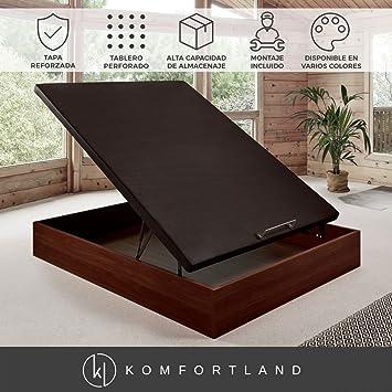 Komfortland Canapé abatible Wood Medida 150x200 cm Color Wengué (Montaje incluido): Amazon.es: Hogar