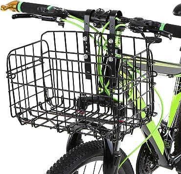 Lixada Cesta de Bicicleta Plegable Desmontable Portaequipajes para ...