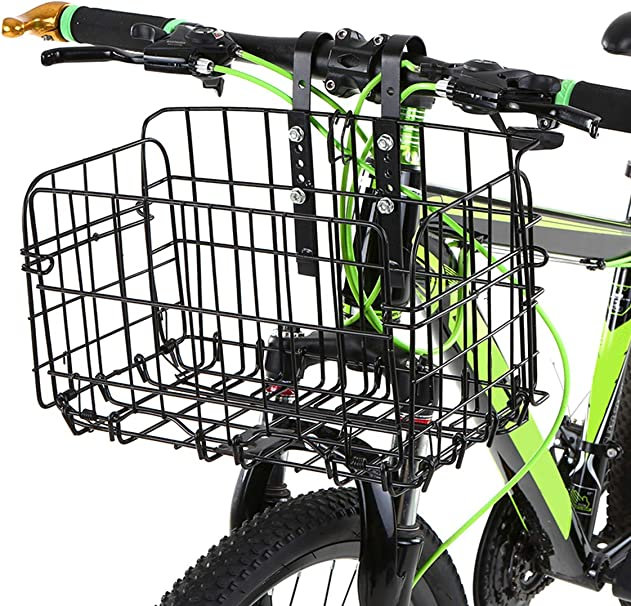 Lixada Cesta de Bicicleta Plegable Desmontable Portaequipajes para Bicicletas de Montaña Accesorios para Bicicleta - Negro: Amazon.es: Deportes y aire libre