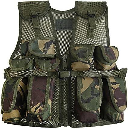 Kids Army Shop Kids Army Camouflage Helmet /& Kids Army Camouflage Assault Vest