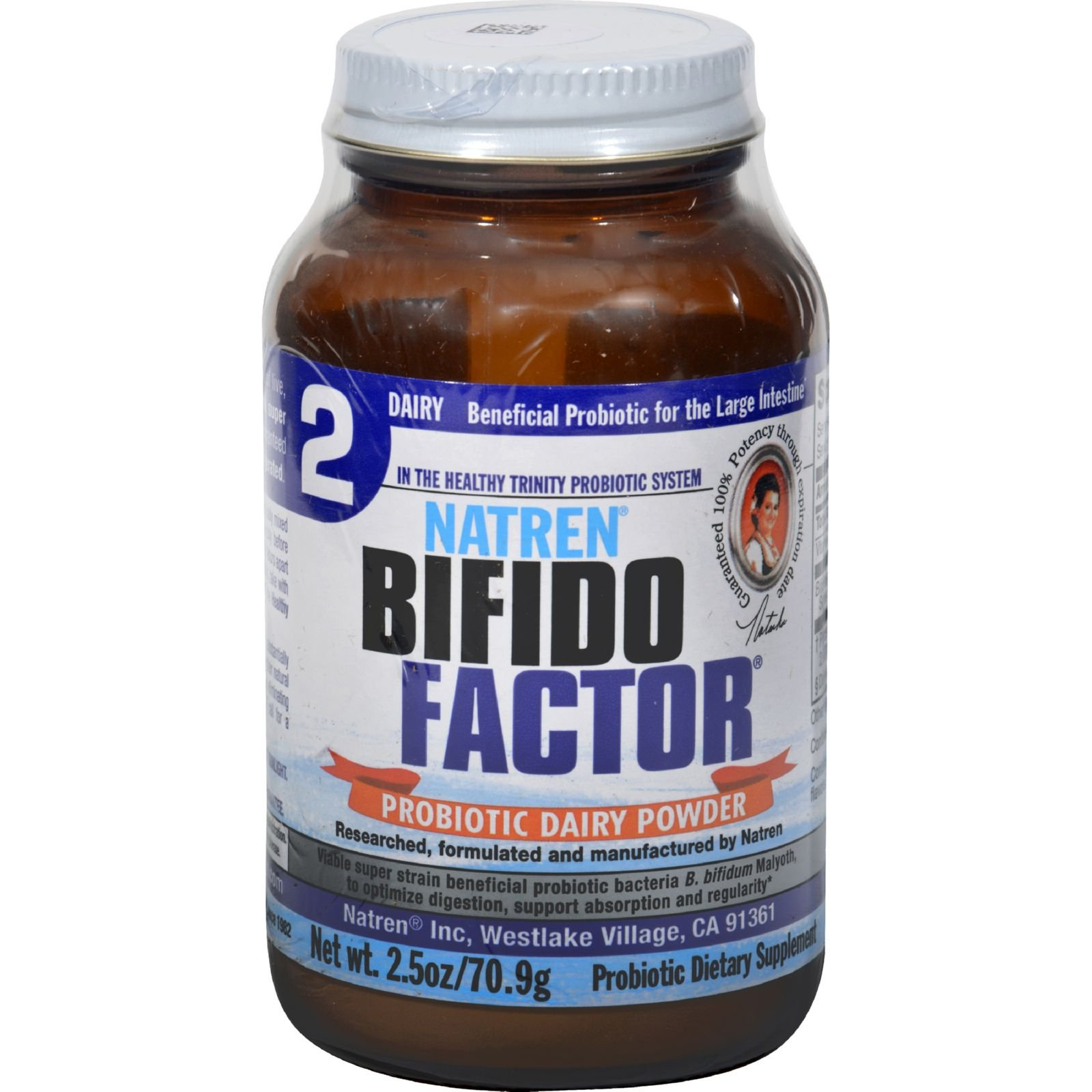 Natren Bifido Factor - Probiotic Dairy Powder - 2.5 Ounce (Pack of 3) by Natren