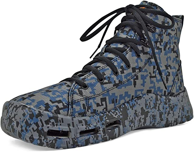 SoftScience Men's The Terrafin Wading Boots, Blue Canvas, 13 M US