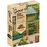 Grow It Gardman Wooden Grow House, Brown, 57x76x110 cm