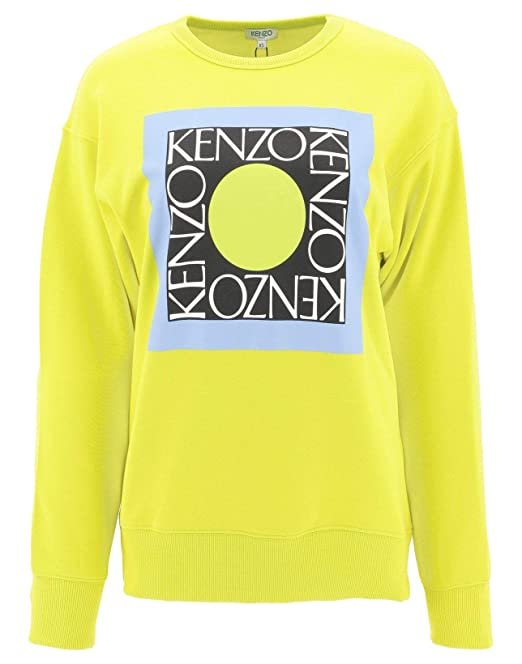 6e7bb956 Kenzo Women's F952SW77895140 Yellow Cotton Sweatshirt: Amazon.co.uk:  Clothing