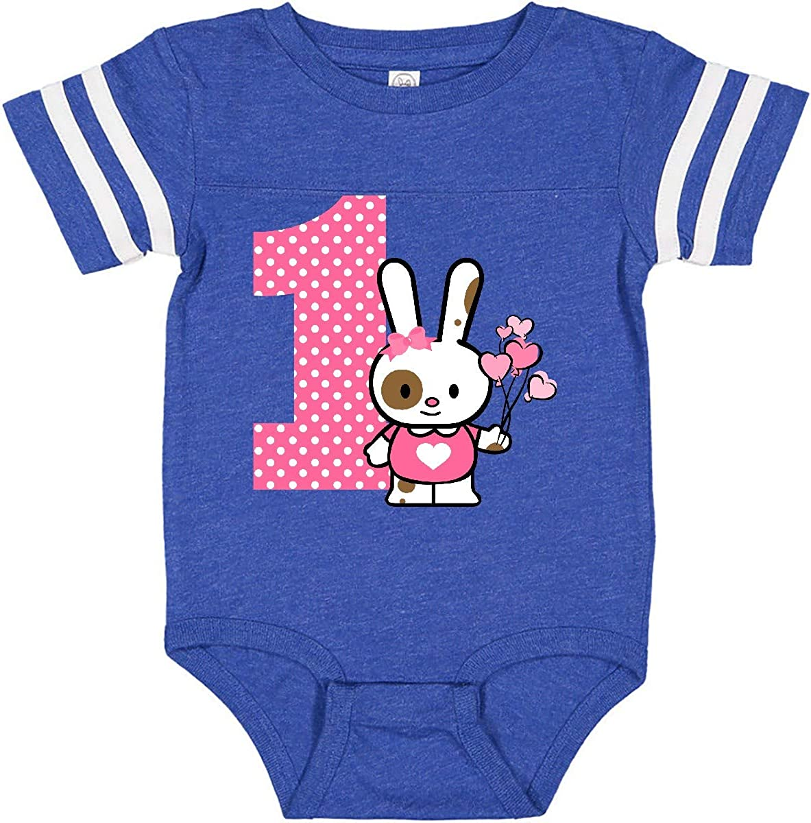 inktastic Valentine Bunny 1st Birthday Infant Creeper
