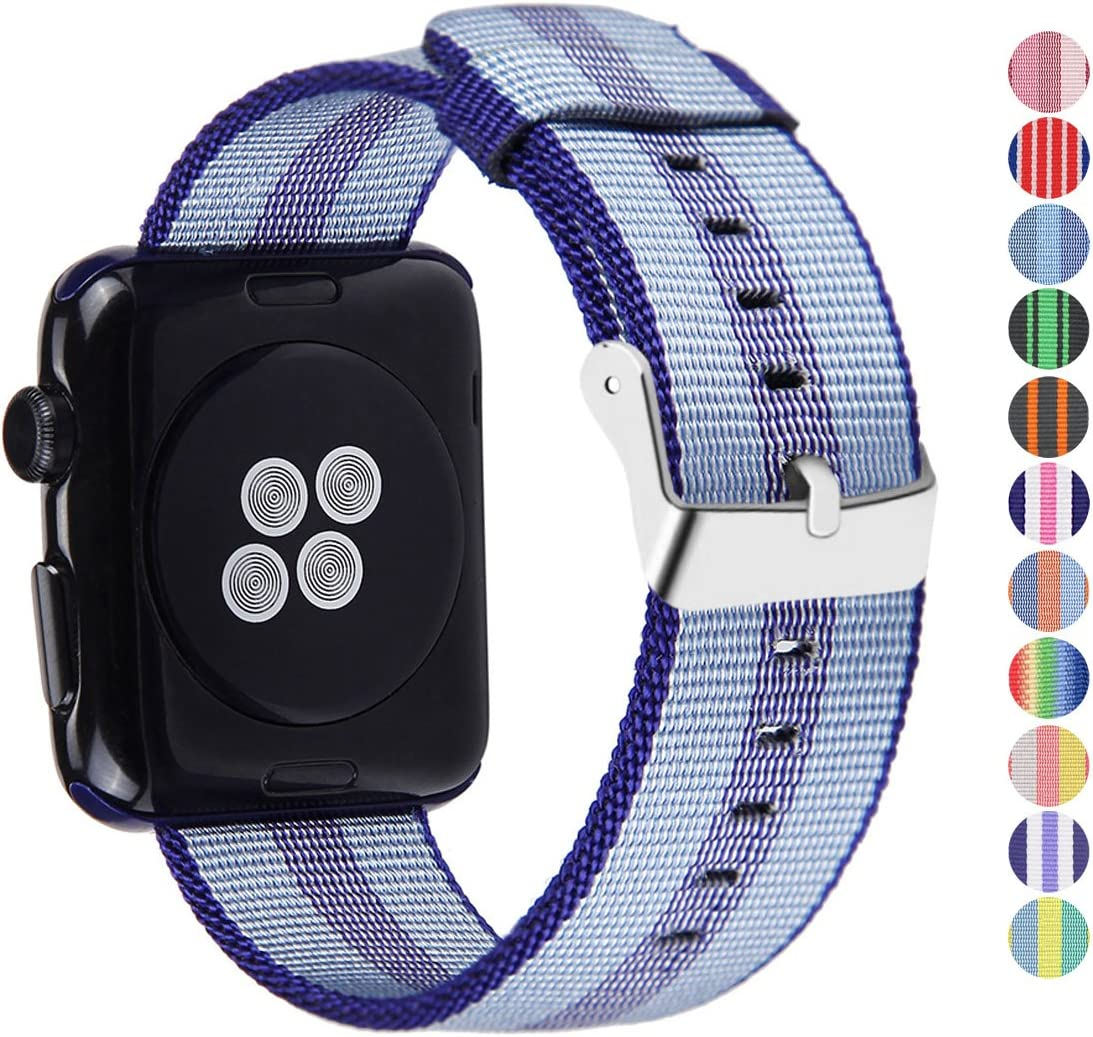 Pantheon Compatible Apple Watch Band 38mm 40mm Nylon - Compatible iWatch Bands / Strap for Women or Men Fits Series 6 5 4 3 2 1
