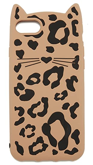sale retailer 91619 16e7d Kate Spade New York Silicone Cheetah Cat iPhone 7 Case / 8 Case, Multi,  iPhone 7