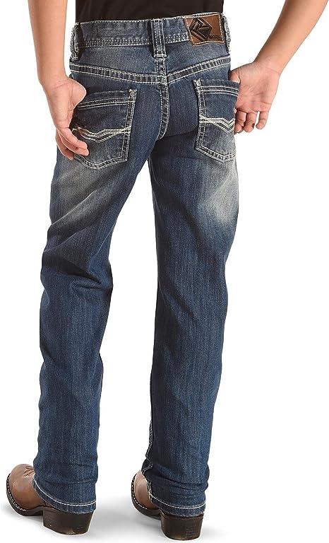 Rock /& Roll Denim Boys Reflex V Embroidered Jean