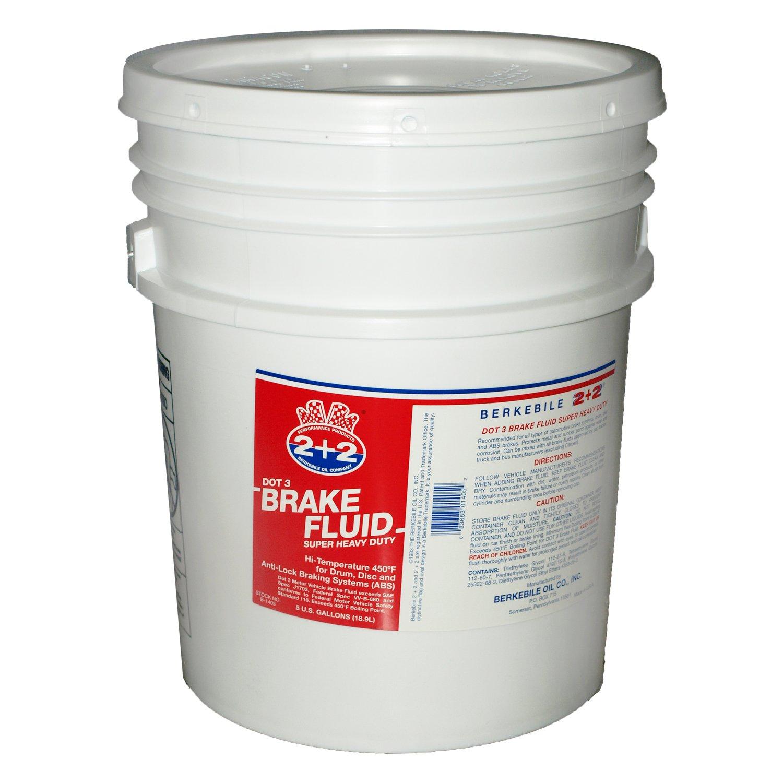 Berkebile Oil 2 + 2 B1405 DOT 3 Brake Fluid - 5 Gallon by Berkebile Oil 2 + 2