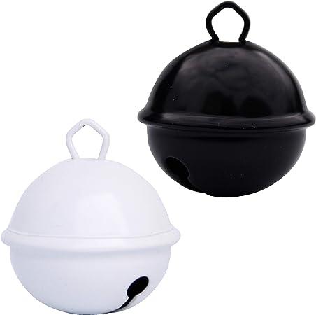 Cascabeles Gigantes Blanco + Negro (35mm x2 Campanillas de Bronce Musicales Sonoros) - 16 Colores MUSIKID (Bebe Niños) Para Manualidades Navidad Boda ...