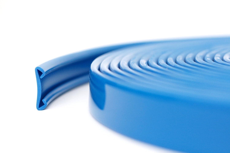 10m PVC Handlauf Treppenhandlauf Kunststoffhandlauf 40x8 mm schwarz