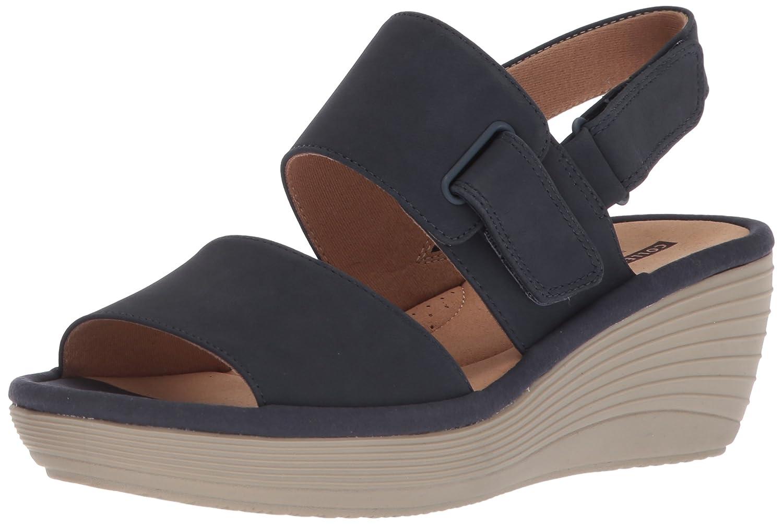 d1d7b4ddb76 Amazon.com  CLARKS Women s Reedly Breen Wedge Sandal  Clarks  Shoes