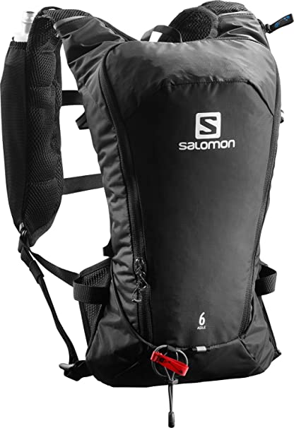 Salomon Mens Agile 2 Set Running Backpack Red Sports Breathable Reflective