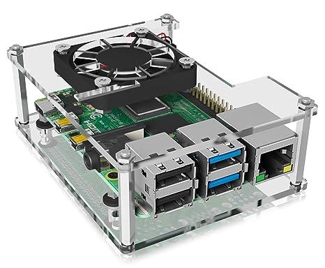 Icy Box Raspberry Pi 4 - Carcasa con Ventilador ...