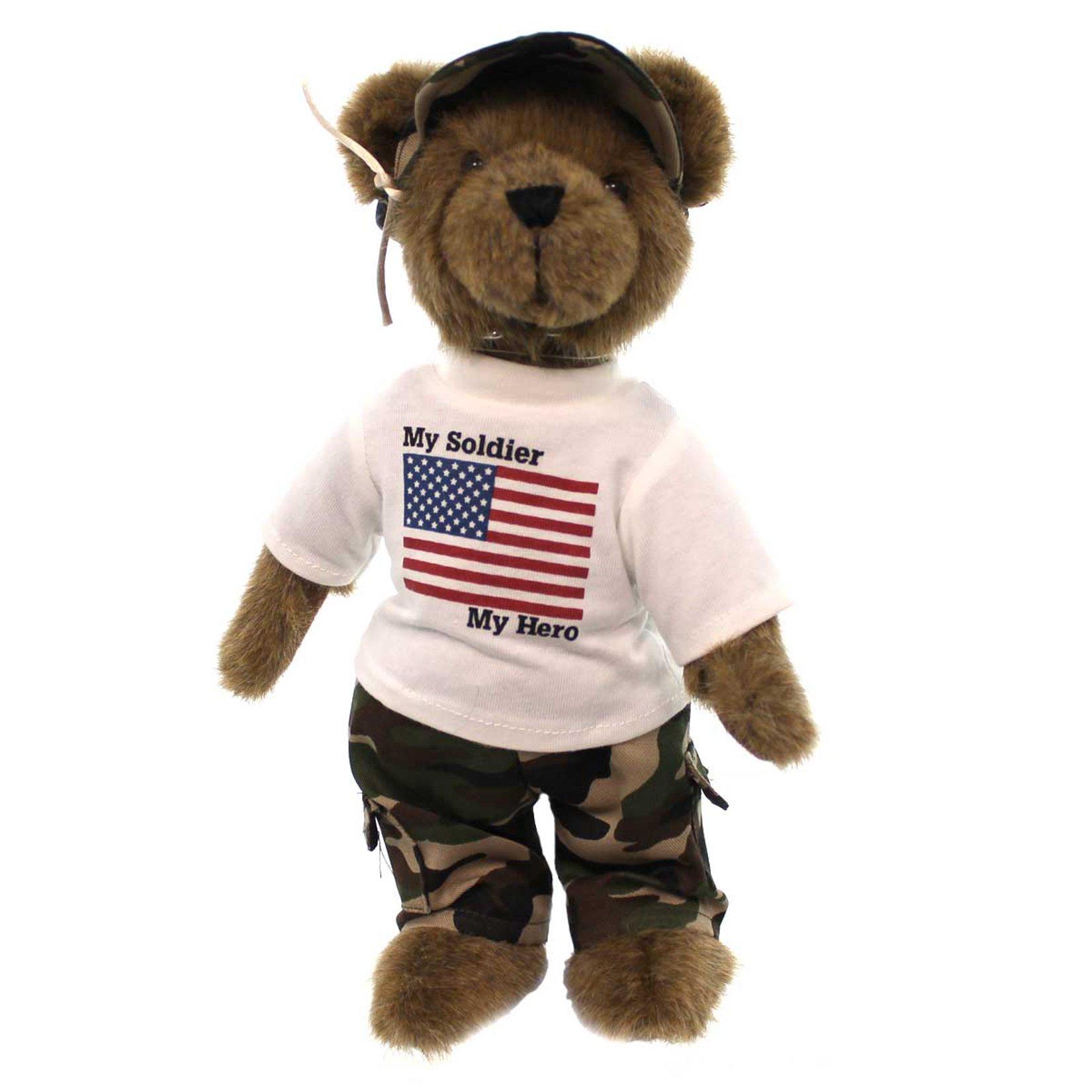 Boyds Bears - Bears Like You Lifestyle Plush - Teddy Patriot Military Bear - 12''