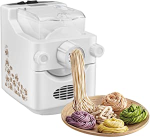Electric Pasta and Ramen Noodle Maker Machine, Automatic Noodle Maker Machine with 9 Multi-functional Noodle and Dumpling Molds for Making Spaghetti, Macaroni, or Dumpling Wrappers(US STOCK)