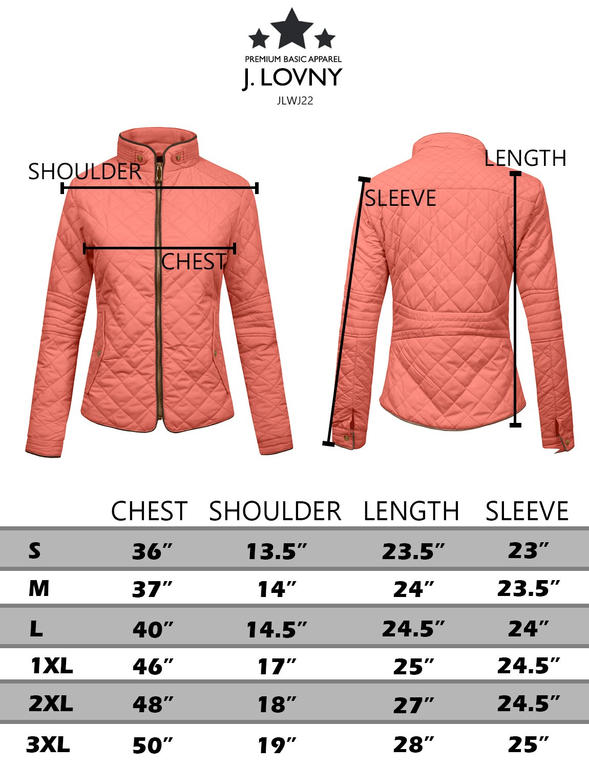 J. LOVNY Womens Lightweight Quilted Warm Zip Jacket/Vest with Pocket Details by J. LOVNY (Image #7)