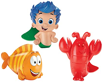 . Fisher Price Bubble Guppies  Gil  Mr  Grouper  Lobster Bath Squirters
