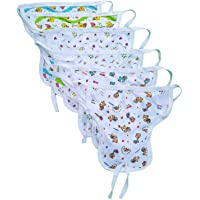 Sunuo Washable Reusable Multicolour Hosiery Cotton Diapers,Nappy,Langot for New Born Baby (0-6 Months, Pack of 10)… (White)