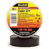 3M Safety Super33 7100002398 Scotch Super 33+ Vinyl Electrical Tape, 3/4 in x 66 ft, Black, 66'