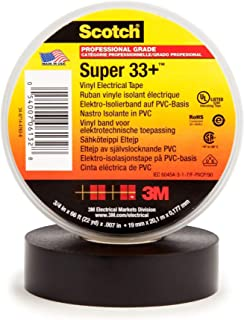 product image for Scotch Super 33+ Vinyl Electrical Tape, 3/4 in x 66 ft, Black