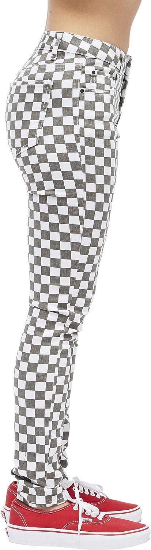 Dickies Girl Juniors Skinny Fit 5 Pocket Checkered Pants