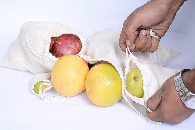 12 x 16 Inches Cotton Single Drawstring Muslin Bags Black Color Premium Quality Eco-Friendly Reusable Cotton Bags