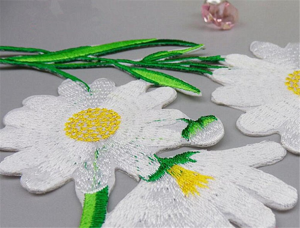 ximkee margaritas flores bordado Appliques coser o hierro EN parches: Amazon.es: Hogar