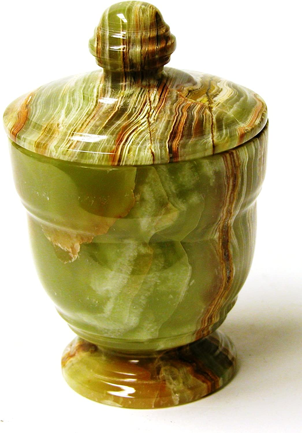 Nature Home Decor 549CG Classic Green Onyx Canister of Bathroom Accessories of Tasmanian Collection