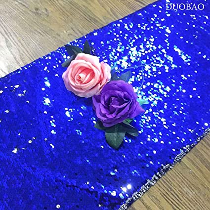 Amazon Com Sequin Table Runners 14x108 Inch Royal Blue To