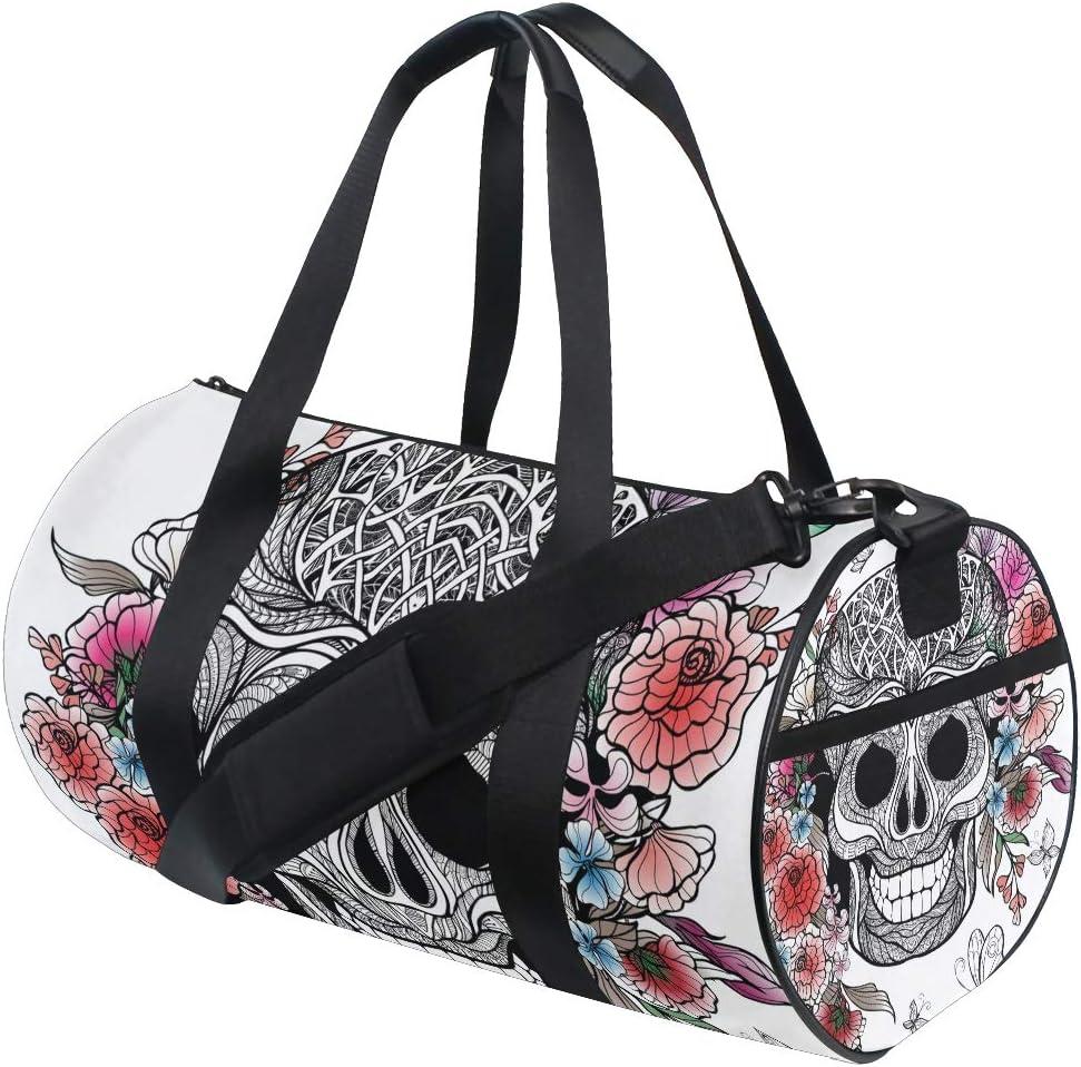 LUPINZ - Bolsa para Raqueta de Tenis de Mesa, diseño de Rosas y Calaveras