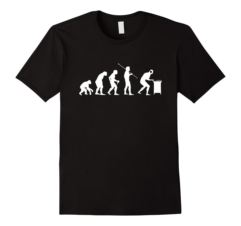 DJ Evolution Shirt Funny Djing Turntables Gift T-Shirt-TJ