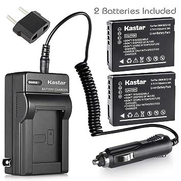 Amazon.com: Batería (2-Pack) y cargador para Panasonic DMW ...