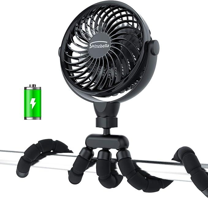 Pesca BIAL 3 Velocidades Ventilador Clip de Cintura 5000mAh Recargable Ventilador Personal Port/átil Con Un Tiempo De Trabajo M/áximo De 22H Para Viajes Senderismo Mini Ventiladores USB NEGRO
