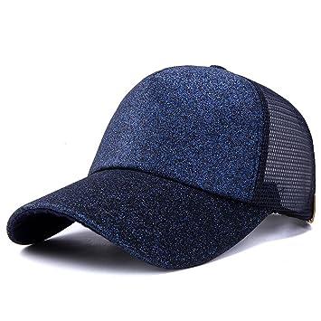 JOYKK Gorra de béisbol Unisex Sombrero de Camionero Shiny Ponytail Snapback Summer Mesh Ajustable - Azul Marino: Amazon.es: Hogar