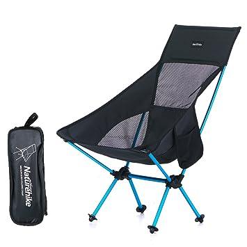 Azarxis Silla de Camping Plegable Ligera Sillas de Picnic Portátil al Aire Libre con Bolsa de Transporte para Senderismo de Viaje Mochilero Pesca ...