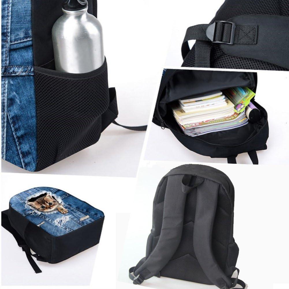INSTANTARTS Crazy Horse Shoulder Backapck Children School Satchel Bookbag
