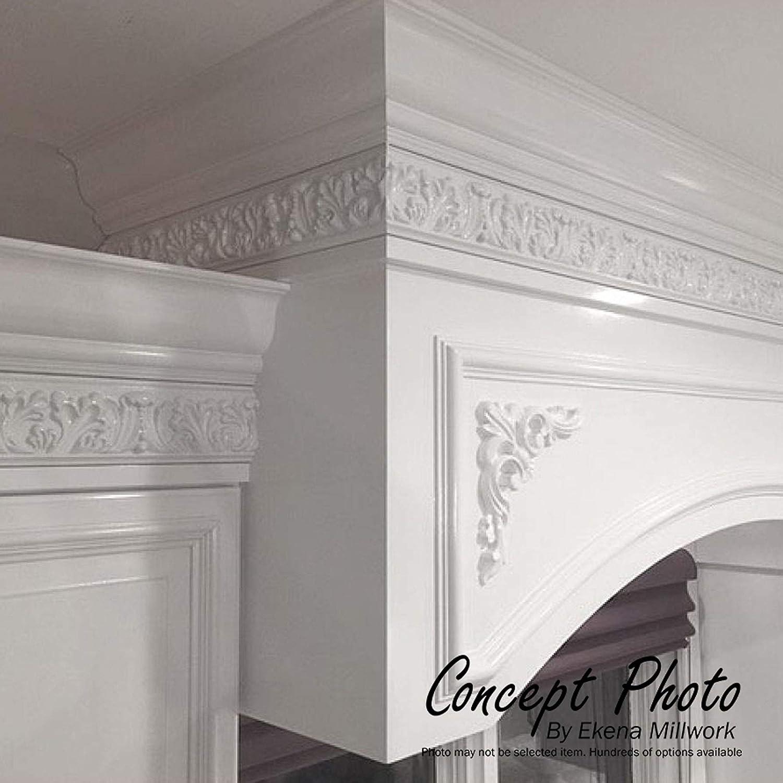 Ekena Millwork PML08X09AS-CASE-8 8 3//4 inch W x 9 inch H Ashford Panel Moulding Corner , 8-Pack