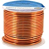 Mandala Crafts Anodized Aluminum Wire for Sculpting, Armature, Jewelry Making, Gem Metal Wrap, Garden, Colored and Soft, 1 Roll(12 Gauge, Copper)