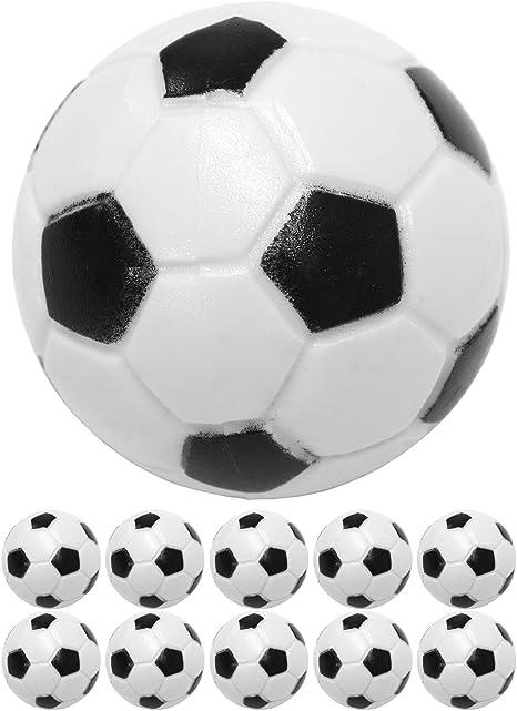 10 bolas patentadoras de ABS, color: negro / blanco (óptica de fútbol clásica), duro y rápido, diámetro 31 mm, pelota kickball de futbolín: Amazon.es: Deportes y aire libre
