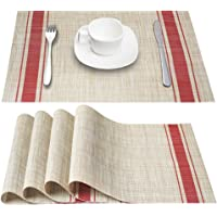 4-Set DACHUI Placemats Heat-Resistant PVC Table Mats
