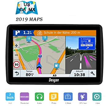 GPS Navigation for Car 7 inch 8GB Car GPS Free Update Map Fast Positioning  Speed Limit Reminder Traffic Warning Driving Alarm