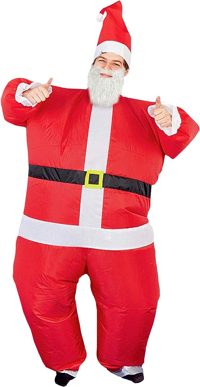 Christmas Adult Inflatable Fancy Dress Costume Unisex Funny Santa Claus Suit UK