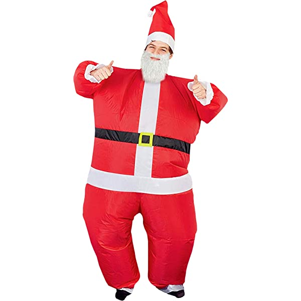 pegtopone - Papá Noel Hinchable con Renos de Papá Noel ...