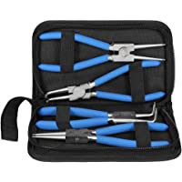 Snap Ring Pliers Set, 4Pcs 7inch External Internal Straight Bent Chrome Vanadium Steel Circlip Pliers with Carry Case…
